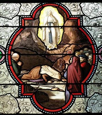 Santa Bernadette bebe por vez primeira da fonte