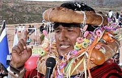 Evo Morales, presidente da Bolívia: