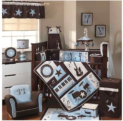 Rocking Baby Crib on Rock N Roll Teen Boys Room   Planning Your Baby S Nursery   Zimbio