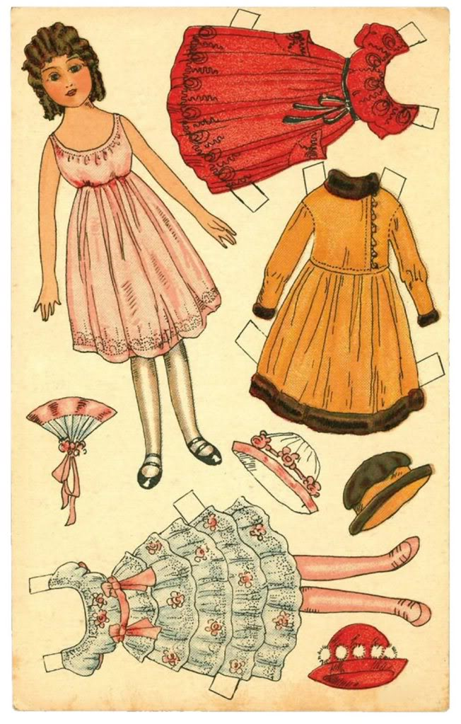 Paper doll art amp downloads design dazzle