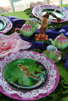 tinkerbell table setting ideas