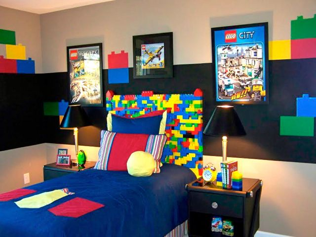Boy 39 s bedroom theme lego design dazzle for Boys bedroom ideas uk