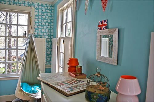 Girl 39 s room aqua blue red design dazzle for Home decor jamaica