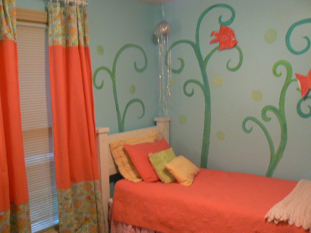 Red Curtains coral colored curtains : The Color Coral: Nurseries & Girl's Rooms - Design Dazzle