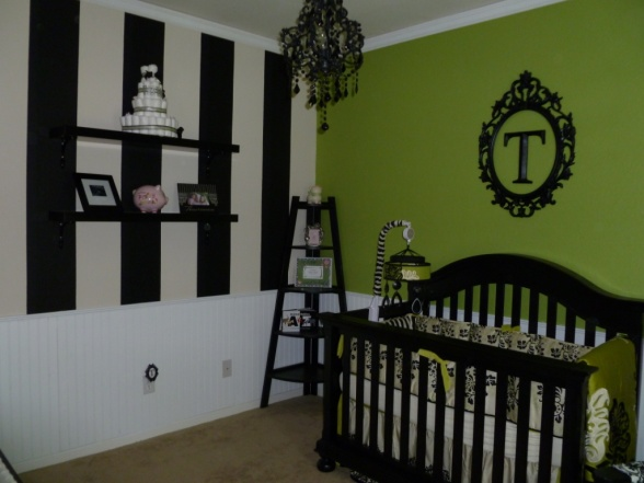 baby girl nursery. Girl#39;s Nursery: Black, White