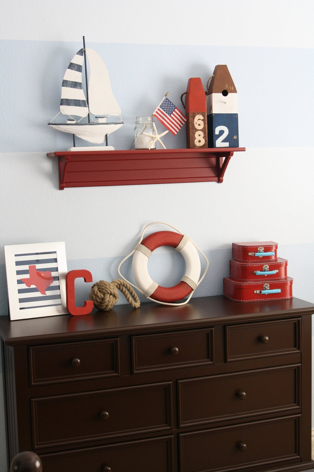 Nautical bedroom on pinterest nautical boys nautical bedroom and nautical bedroom decor - Decoration of boys bedroom ...