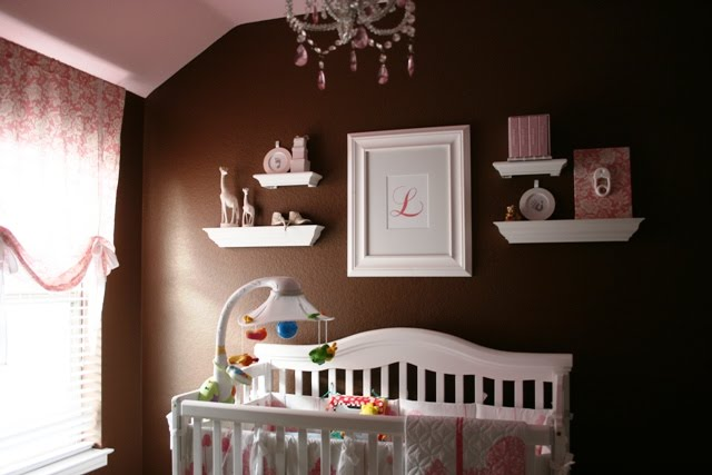 Pink brown baby nurseries design dazzle - Baby slaapkamer deco ...