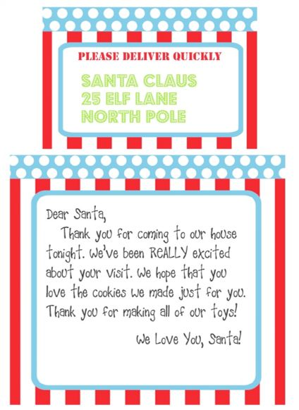 ... younger kids. Moomootutu offers the free Santa letter printable here