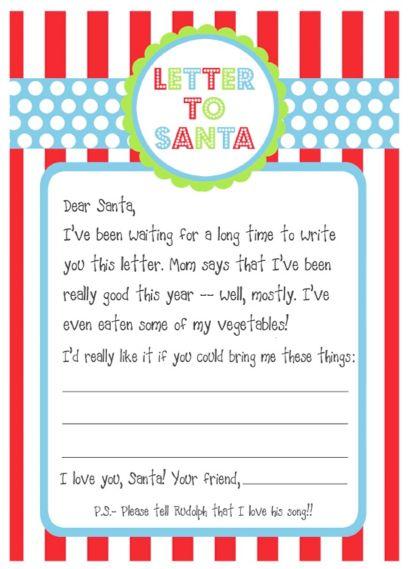 Diary lifestyles free printables santa letters