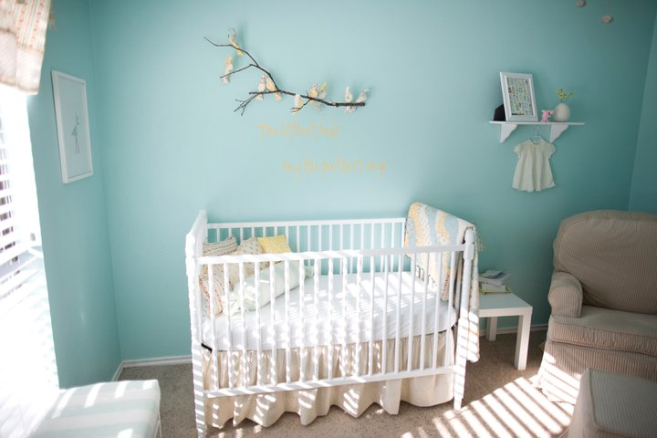 Baby nursery the littlest birds sing the prettiest songs for Baby boy room paint ideas