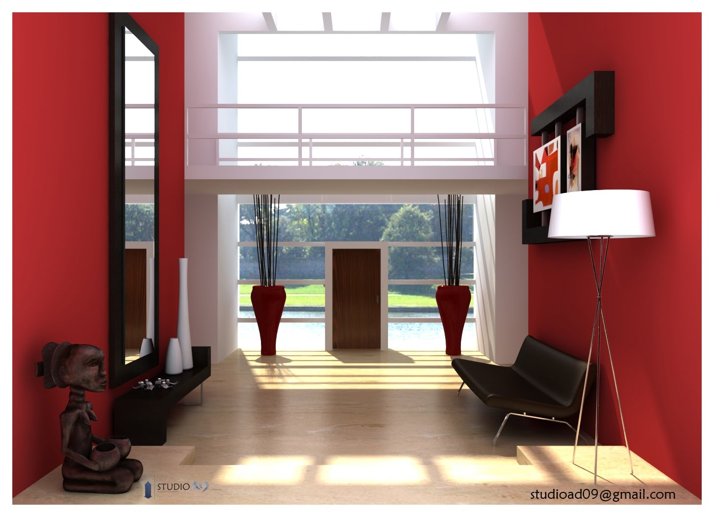 Studio ad interiores rojos for Decoracion de interiores color rojo