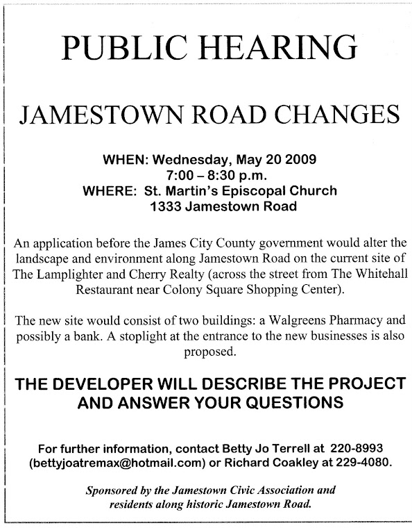 Public Hearing-May 20, 2009