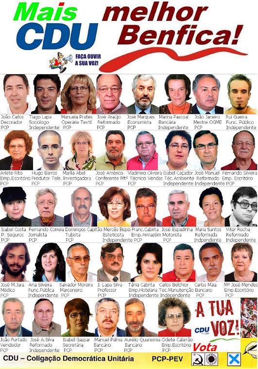 Candidatos CDU Benfica