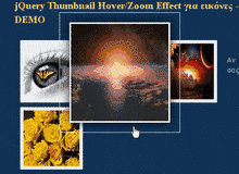 jQuery Thumbnail Hover/Zoom Effect