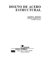 Ingenieria civil dise o de acero estructural joseph e for Diseno estructural pdf