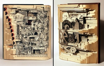 Creative Book Autopsies sculpture