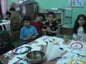 primer taller: pintamos nuestras poleras