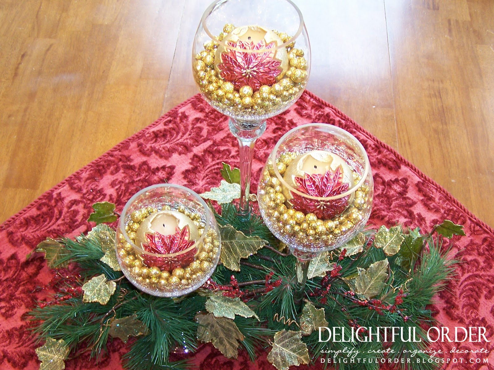 Delightful Order: Christmas Table Centerpiece