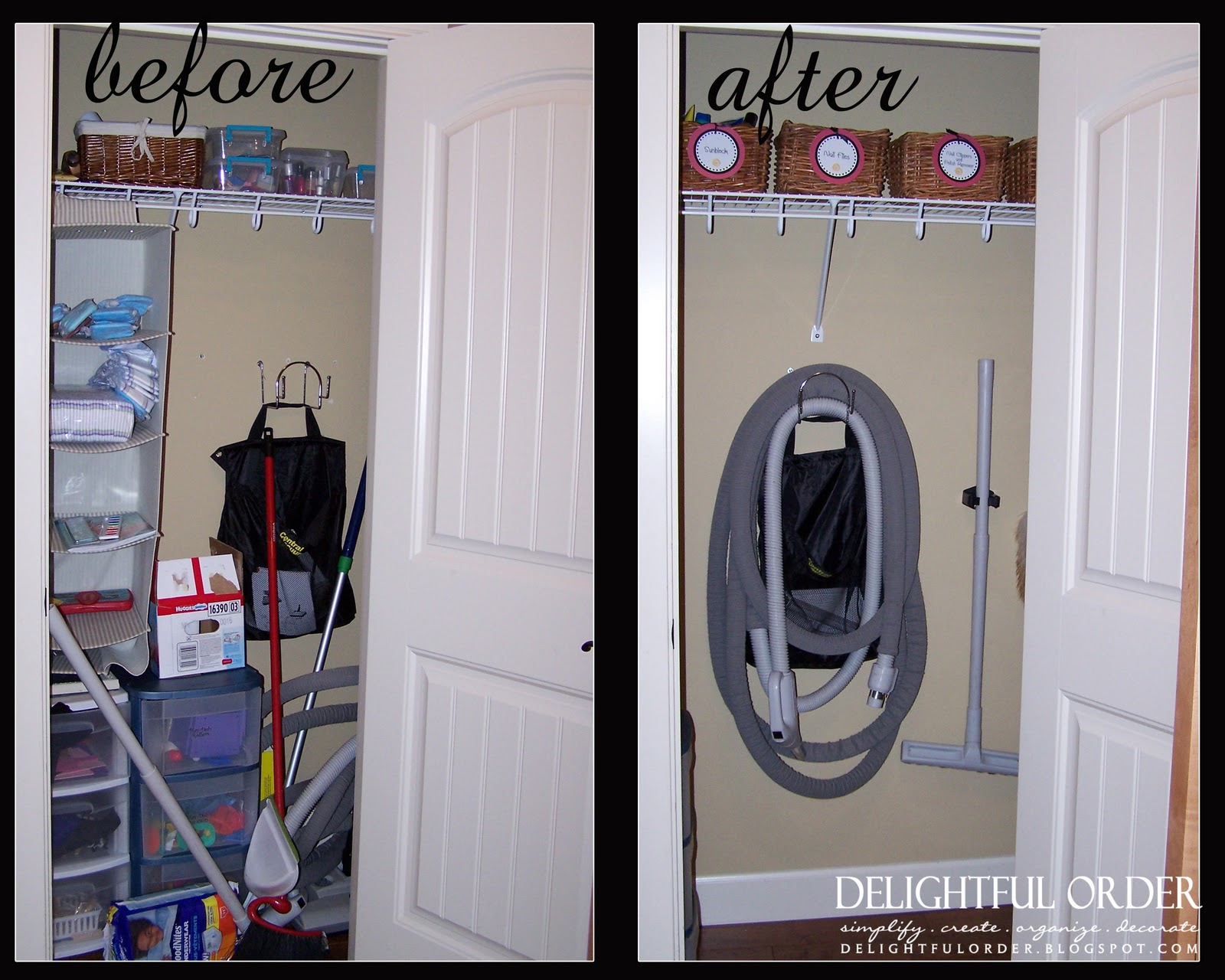 Vacuum Closet Clean Out