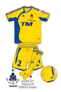 football shirt malaysia clubs pahang fa 200607 malaysia