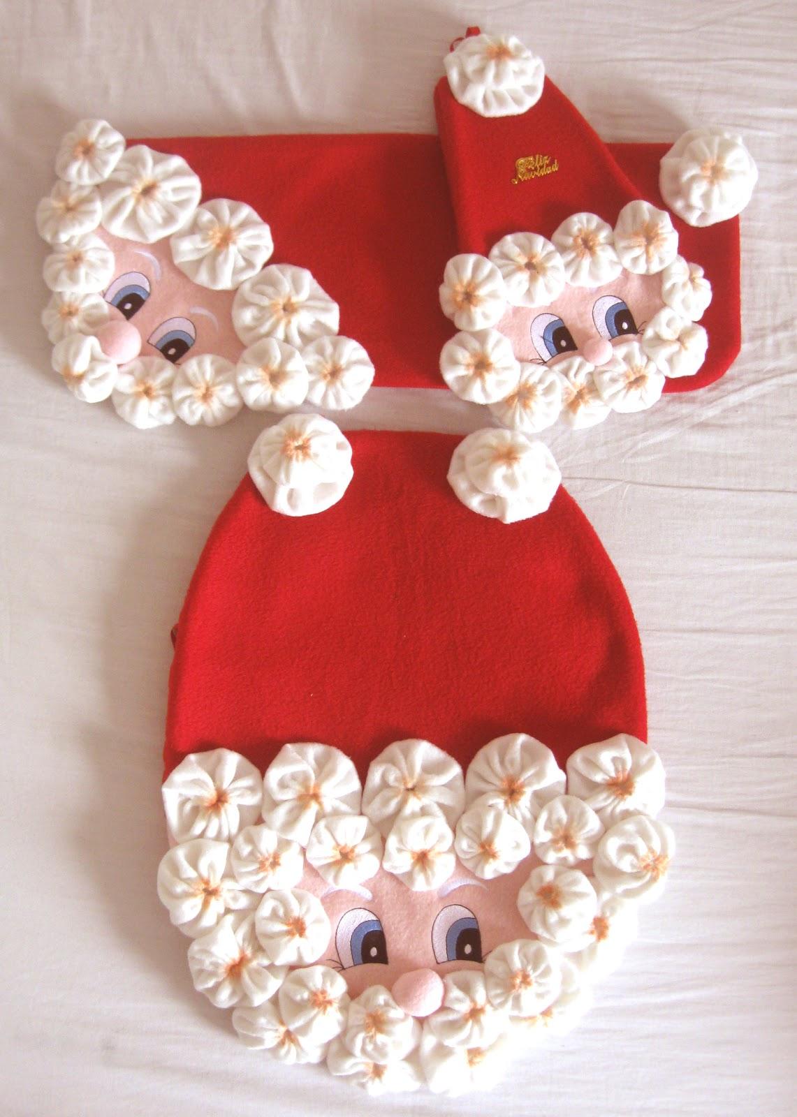 Set De Baño Navideno Manualidades:Bota De Papa Noel Juego De Bano De Papa Noel