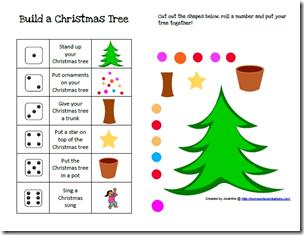 Free Homeschool Printables Build A Christmas Tree Game Printable