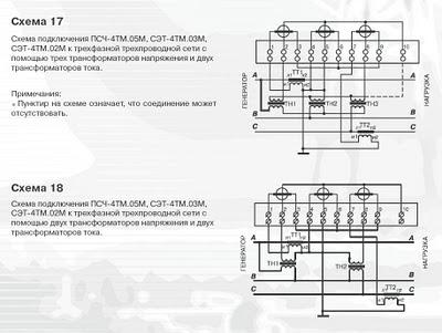 Схема подключения счетчиков электрической энергии