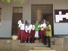 Me with Mtoni Students, Headmaster and Soccer Balls Donated by Clarke Road