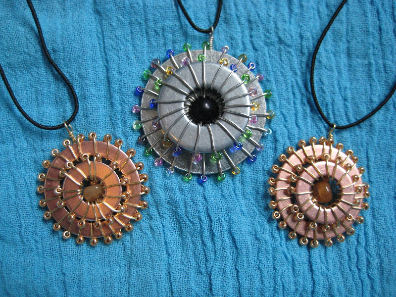 Turning Stones Blog: How To: Washer and wire necklace