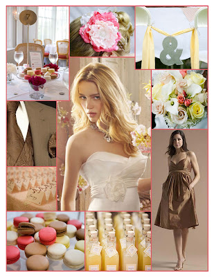 Welcome to a Weekend Wedding in Pink Brown Yellow Ivory