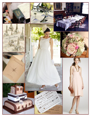 Pack your bags for a Vintage Travel Themed Wedding