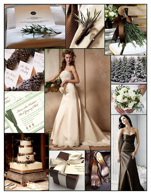 Welcome to a Holiday Wedding in Evergreen Pine