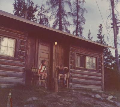 Annieinaustin, cabin in Tetons, 1970's