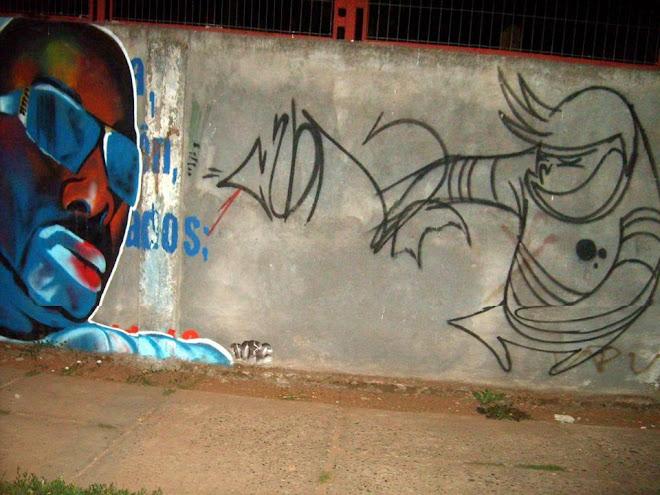 Graffiti en Kuriko/Autor Abujon