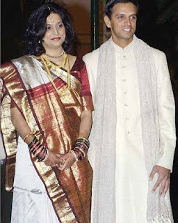 Rahul Dravid and his wife Photos of Cricketers Wifes : Cricketers Wives and Girl Friend Pics,Images 