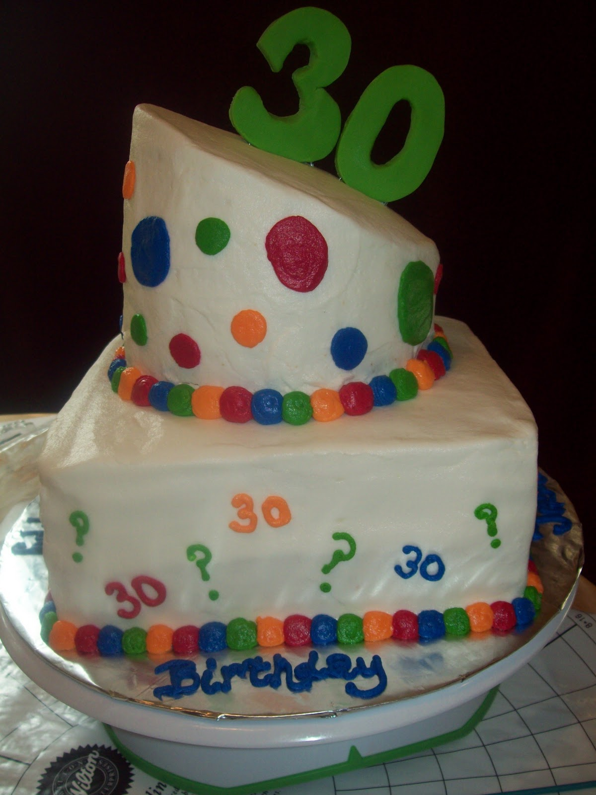 Bb cakes whimsical 30th birthday cake for 30th birthday cake decoration ideas