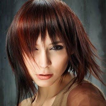 Look de cabello bicolor