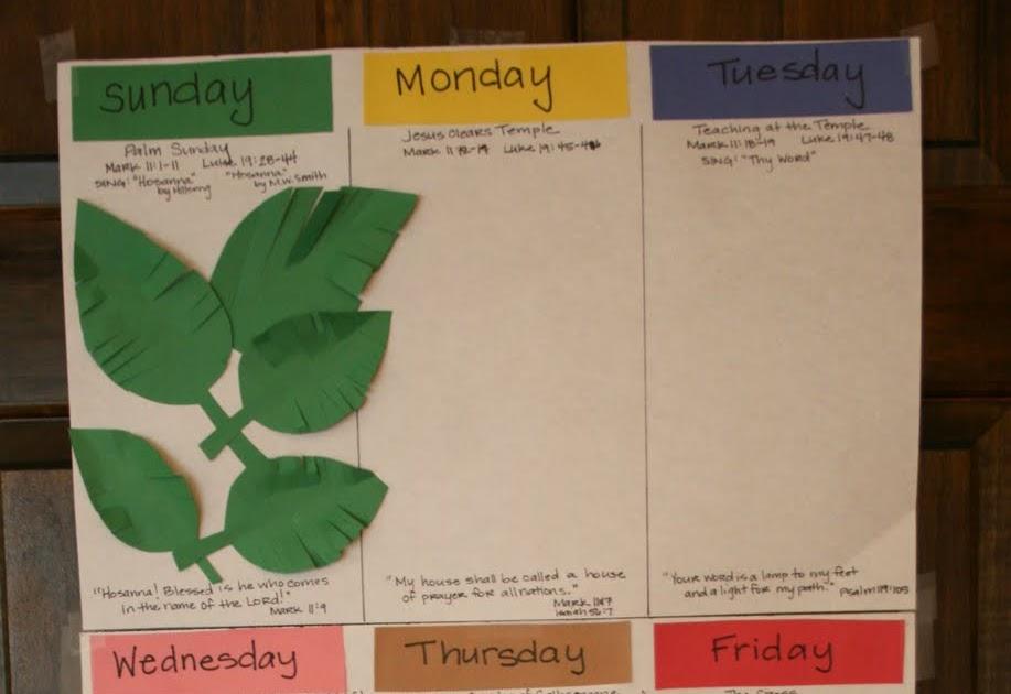 the domestic notebook  holy week calendar