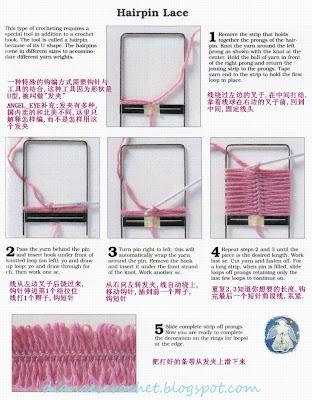 Aquí tienen las instrucciones básicas para tejer con horquilla, una