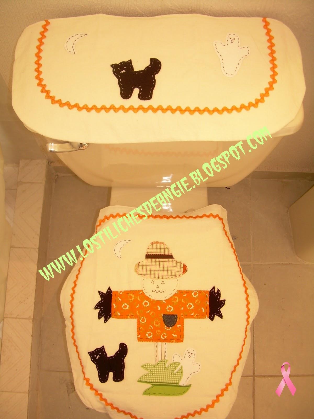Juegos De Baño Halloween En Fieltro:Los tiliches de Angie: Juego de Baño Espantapajaros