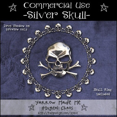 CU Freebie - Silver Skull :o) by Fall3nangel PreviewSS