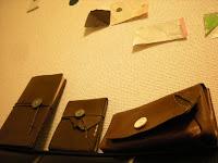 ノート さいふ ペンケース journal, wallet, pen case.