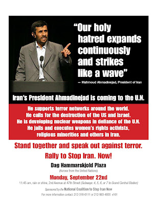 Palin Will Speak At Anti-Ahmadinejad Rally At UN