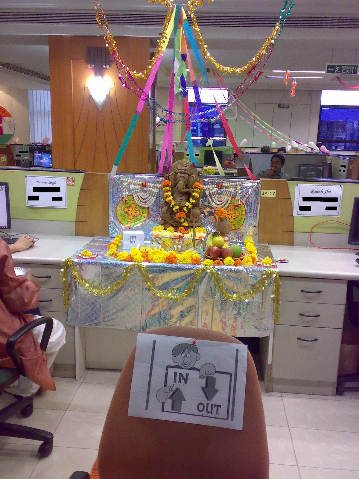 Rangoli & Cubicle Decoration Competition In Office : ) | Kiran