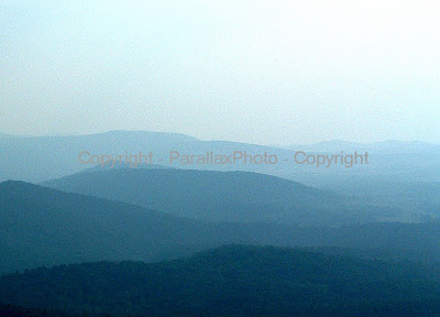 landscape great smokey mountains blue