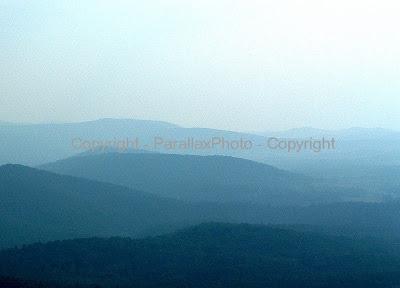 landscape great smokey mountains blue