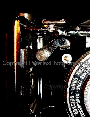 macro photograph vintage camera, black
