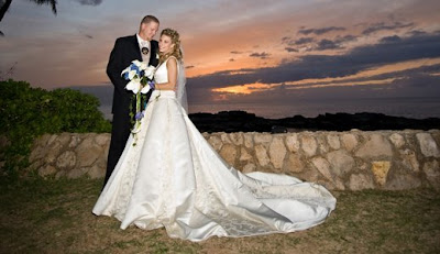 Lyssa and Bo wrote their owns vows for their sunset wedding ceremony.