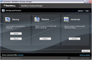 Descargar BlackBerry Desktop Manager 5.0.1 gratis
