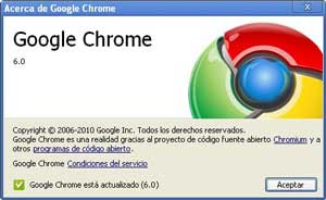 Google Chrome Actualizacion